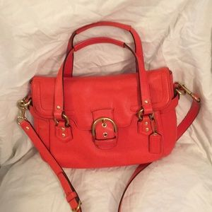 COACH ORANGE HAND-CROSSBODY BAG